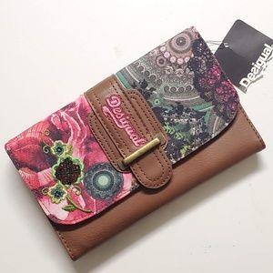 Desigual Mone Maria Garden Flamingo Wallet